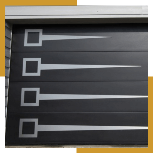 Porte de garage moderne grise